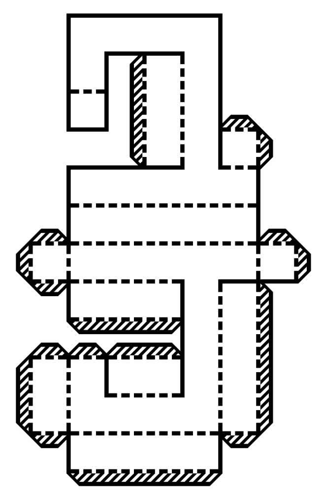 Molde de letra do alfabeto