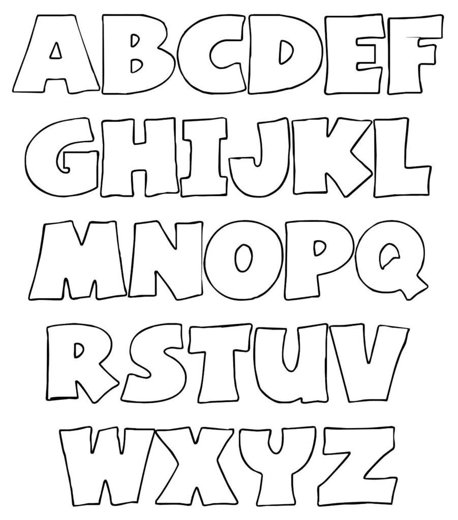 Molde de letras do alfabeto