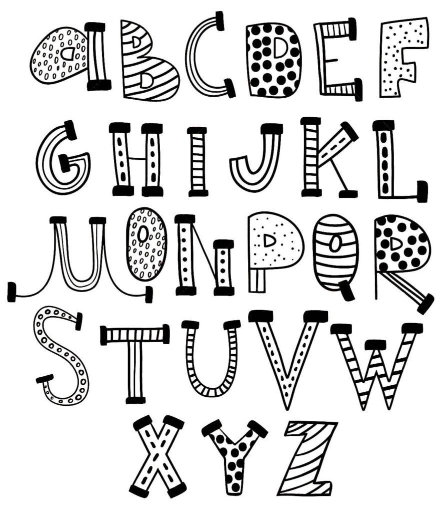Moldes do alfabeto para imprimir
