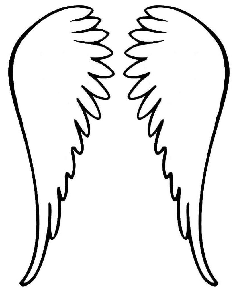 Molde para fazer asa de anjo