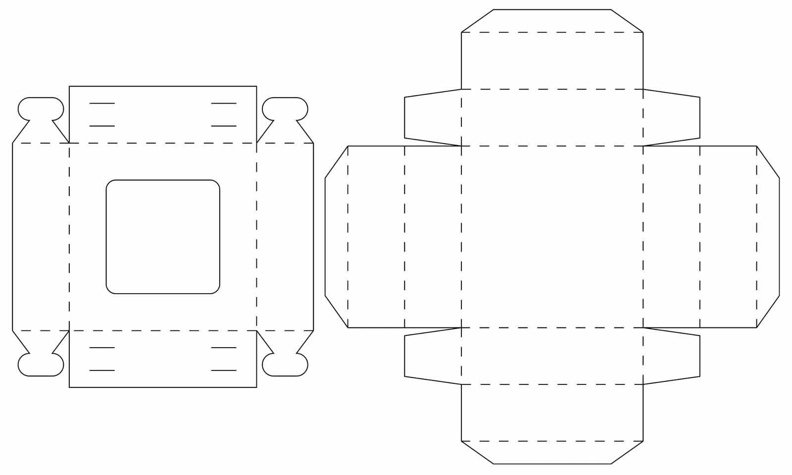 Molde para caixa de papel de sabonete
