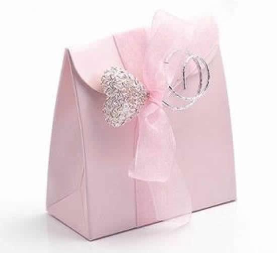 Sacolinha de papel linda com molde