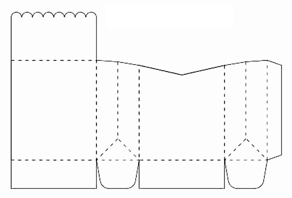 Molde lindo de sacolinha de papel