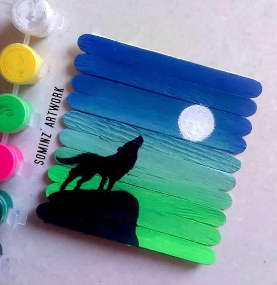 Faça arte com palitos de picolé