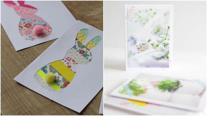 Cartão de Páscoa para fazer com papel
