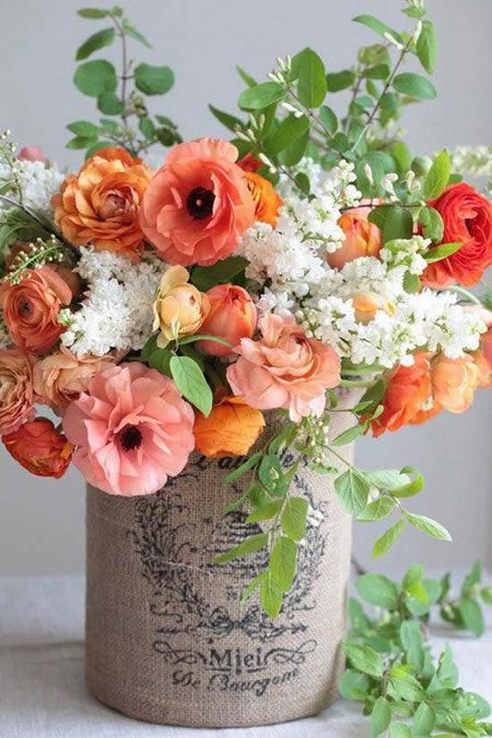 Decoração com flores para o Dia das Mães