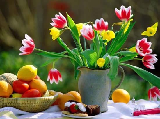 Arranjo de flor para o Dia das Mães