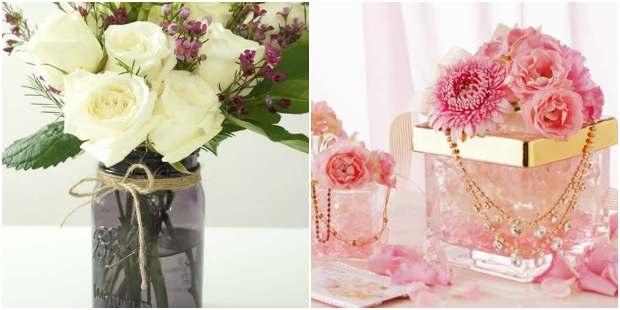 Arranjos de flores para decoração de Dia das Mães