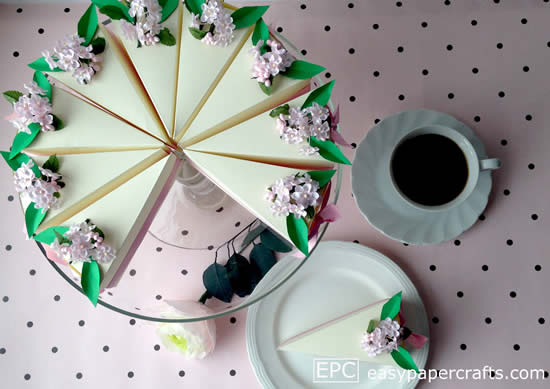Moldes para fazer bolo fake de papel