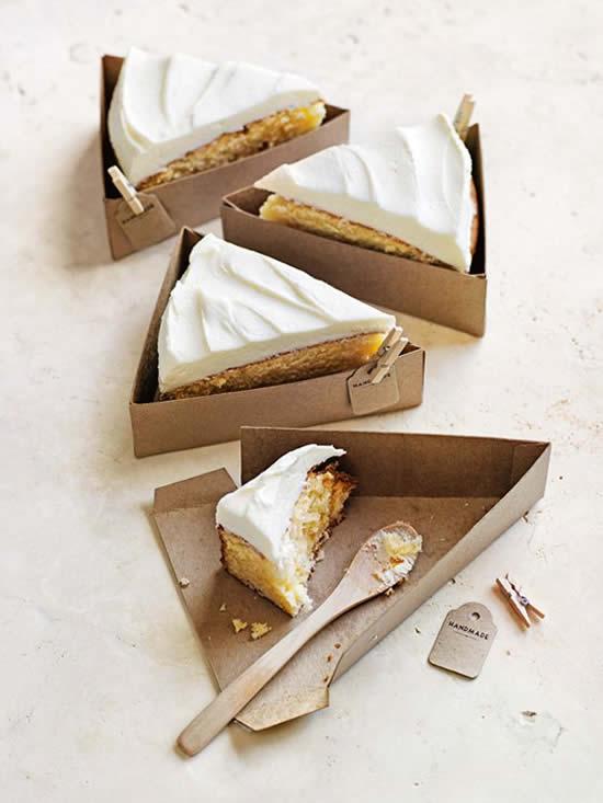 Caixinha para fatia de torta