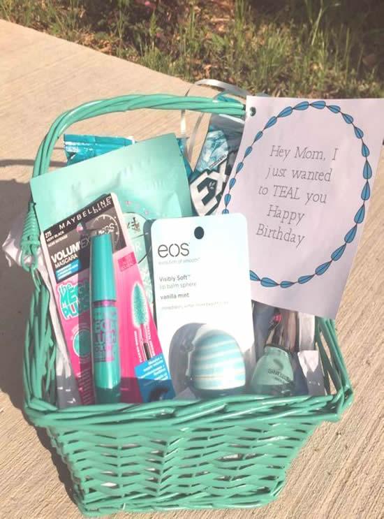 Ideia de cesta para o Dia das Mães