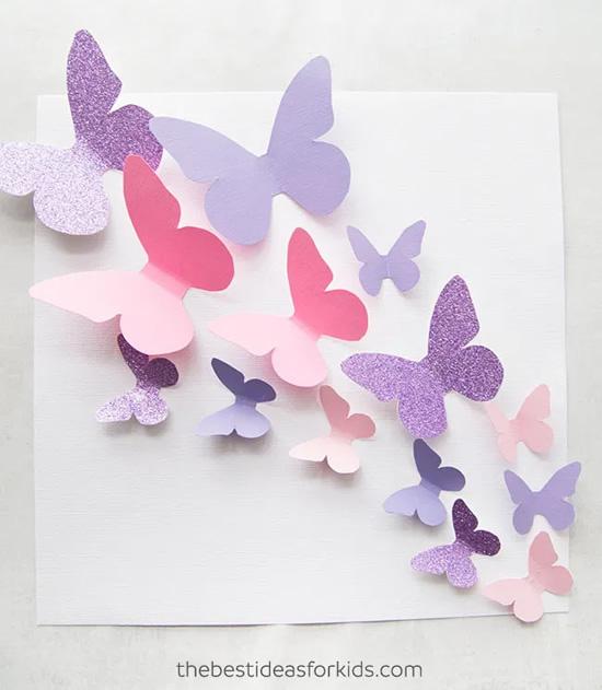 Atividade com borboletas de papel